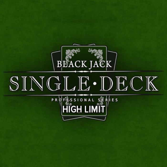 Blackjack singledeck high